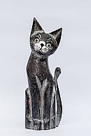 Статуэтка серого кота, 30 см