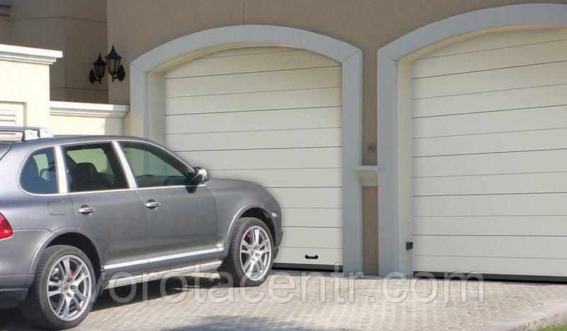Ворота гаражні секційні Дорхан, RSD01SС-UA №2, 2500х2280, білі