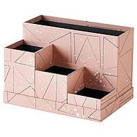 Подставка для канцелярских принадлежностей IKEA TJENA 18x17 см розовая черная 303.982.25