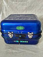 Кофра мото металлическая синяя большая (помещается шлем) ТММР