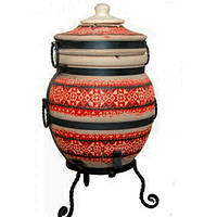 """Тандыр печь дизайн """"Вышиванка"""" №1 45 литров, фото 1"""