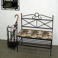 Диван кованый со спинкой и полкой №6, фото 1