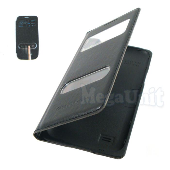 Чехол-панель S View Cover для Samsung Galaxy S4 mini i9190 (2 окошка) Черный