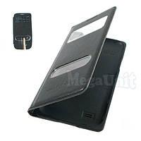 Чехол-панель S View Cover для Samsung Galaxy S4 mini i9190 (2 окошка) Черный, фото 1