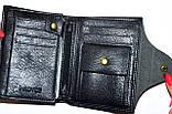 Мужской черный кошелек Piroyce из искусственной кожи на кнопке размер 10*13,5 см , фото 2