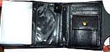 Мужской черный кошелек Piroyce из искусственной кожи на кнопке размер 10*13,5 см , фото 3