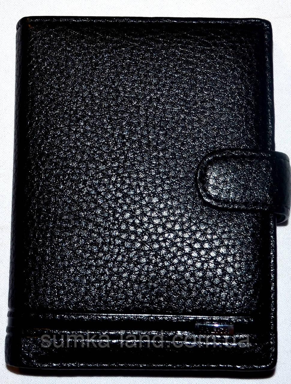 Мужской черный кошелек Balisa из искусственной кожи на кнопке размер 11*14,5 см