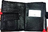 Мужской черный кошелек Balisa из искусственной кожи на кнопке размер 11*14,5 см , фото 2