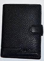 Мужской черный кошелек Balisa из искусственной кожи на кнопке 11*14,5 см , фото 1