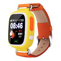 Детские умные часы Smart Baby Watch Q90 Orange Оранжевые , фото 1