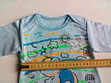 Ясельная кофта 3518 НАЧЕС рост 56,62, размер 44 МИШКА голубой, фото 3
