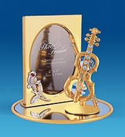 Фоторамка Сваровскі Скрипка з позолотою 24 карата