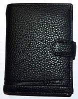 Мужской черный кошелек Balisa из кожзама на кнопке размер 11*14,5 см , фото 1