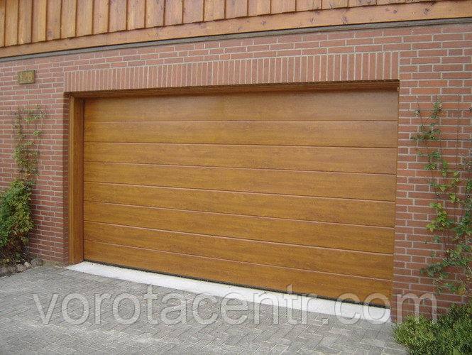 Ворота гаражні секційні Дорхан, RSD01SС-UA №3, 2500х2530, золотий дуб