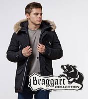 Braggart Arctic 38230 | Зимняя мужская парка черный-серый