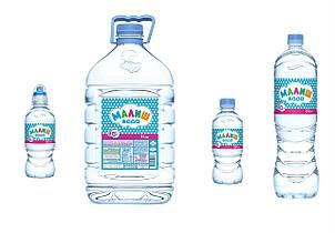 """Вода  """"Малиш""""  1,5 литр"""
