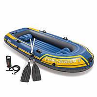 Надувная лодка Challenger 3 Set Intex 68370 (295x137x43 см), Трехместная, Intex