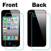 Противоударное защитное стекло Iphone 4 4s (переднее или заднее)