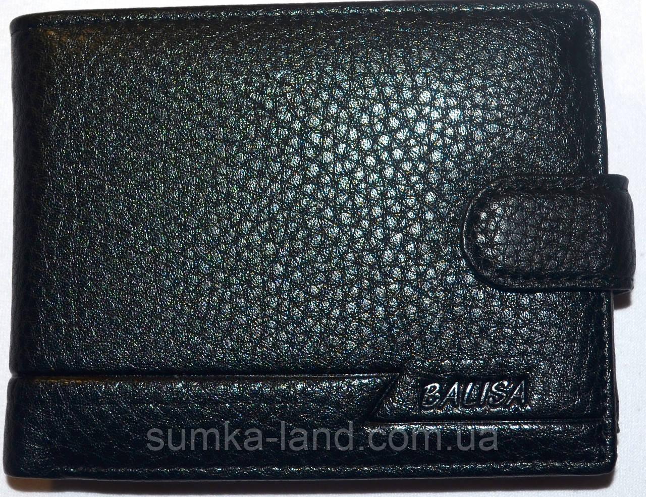 Мужской черный кошелек Balisa из кожжзама на кнопке