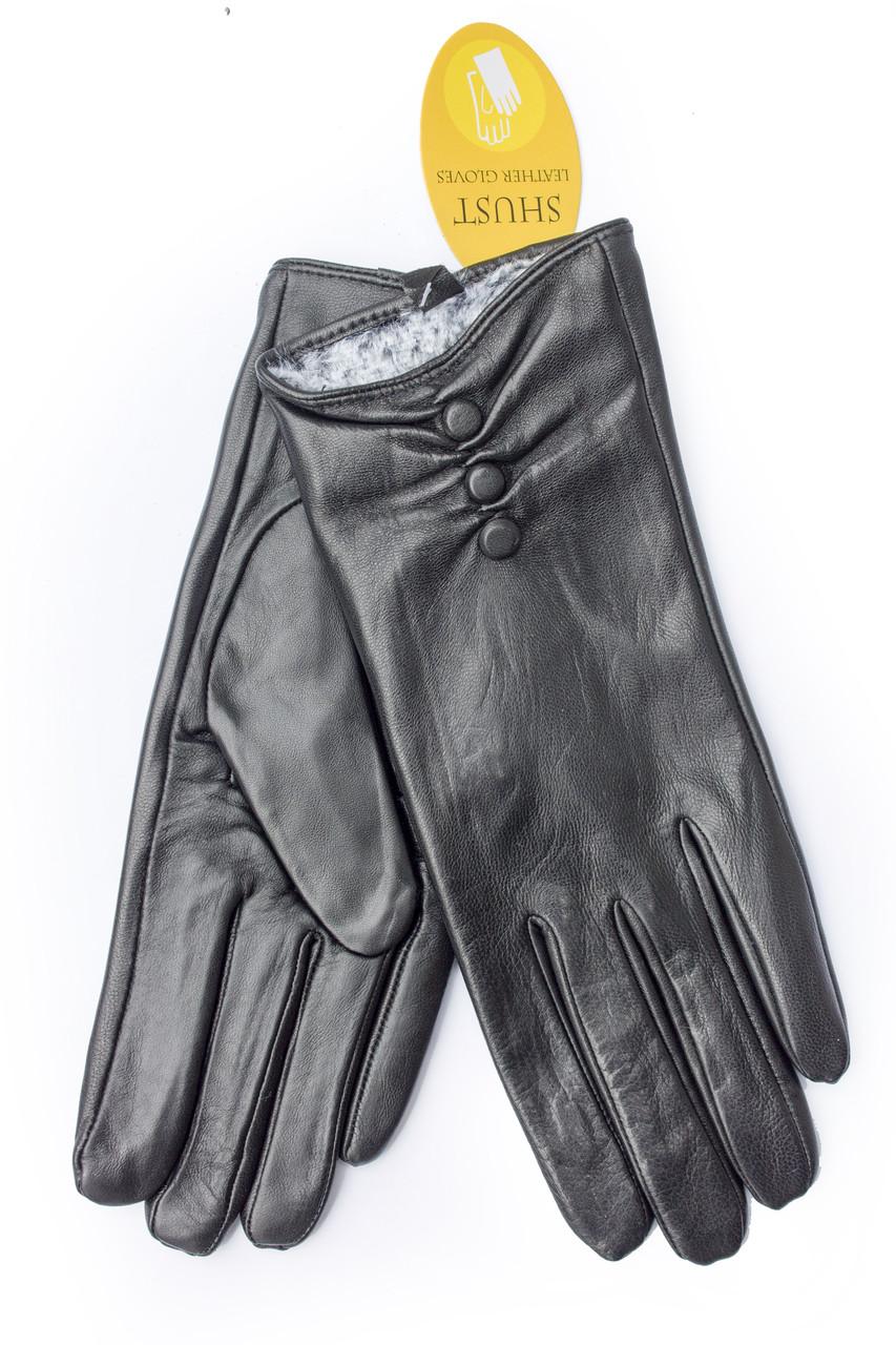 Женские кожаные перчатки черный 735s3