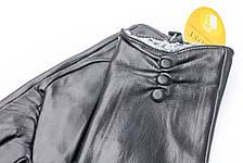 Женские кожаные перчатки черный 735s3, фото 2