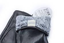 Женские кожаные перчатки черный 735s3, фото 3
