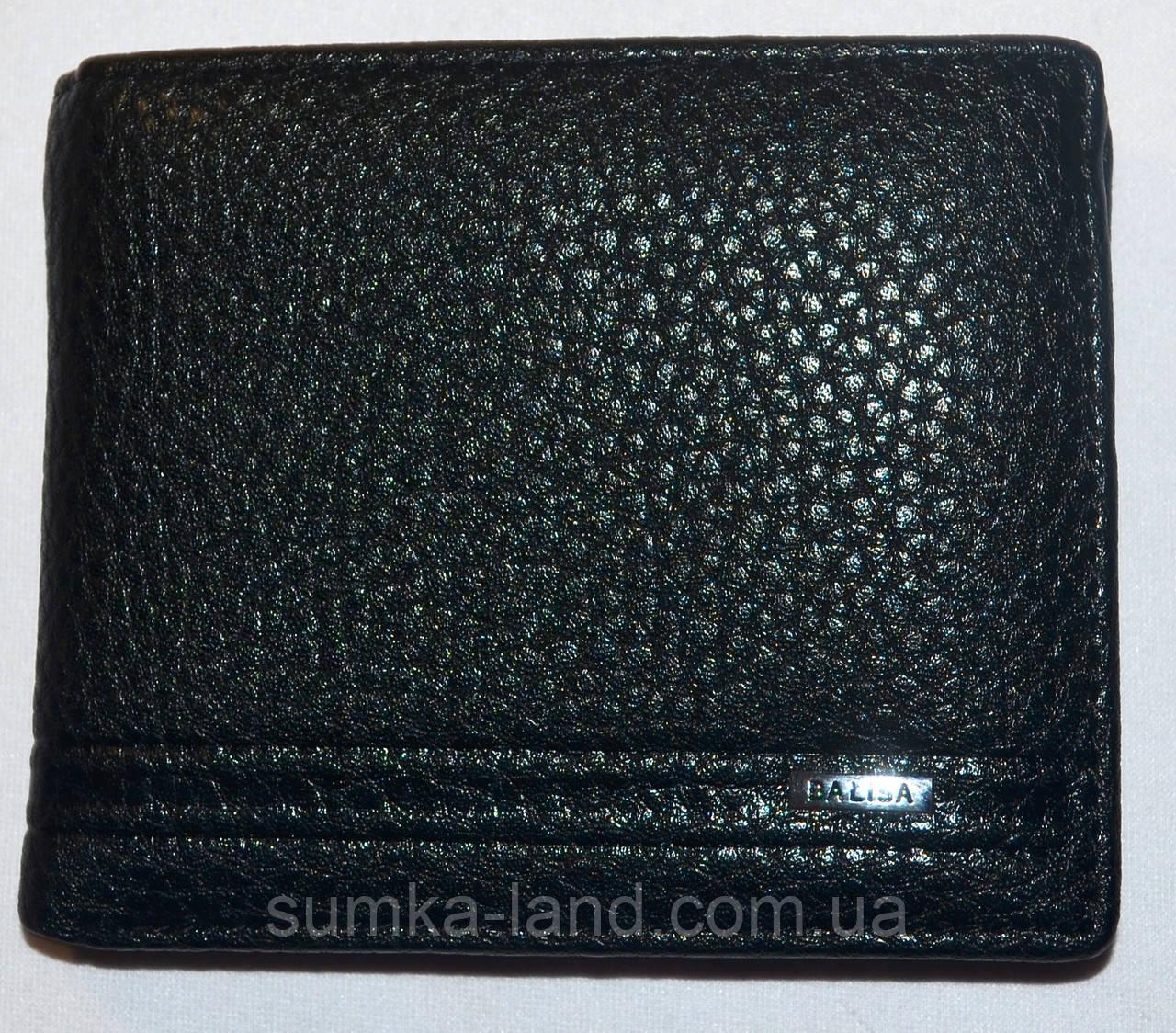Мужской черный кошелек, зажим для денег  Balisa из искусственной кожи на магните 11,5*10 см