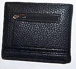 Мужской черный кошелек, зажим для денег  Balisa из искусственной кожи на магните 11,5*10 см, фото 3