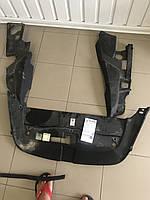 Пластиковые защита радиаторов комплект на Порш Каен (Porsche Cayene) 958 2011-2017