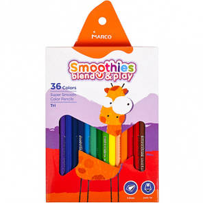 "Карандаши цветные Marco ""Smoothies blend play"" 36 цветов, фото 2"