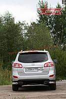 "Защита задняя ""уголки"" d 76 (компл 2шт.) Союз 96 на Hyundai Santa Fe 2011-2012"