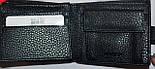 Мужской черный кошелек Balisa из кожзама на кнопке размер 11*10 см , фото 2