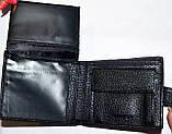 Мужской черный кошелек Balisa из кожзама на кнопке размер 11*10 см , фото 3
