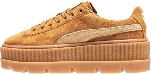 13e2af1c9de7 Puma x Fenty Cleated Creeper Suede Wheat   женские кроссовки  замшевые   пшеничного цвета -