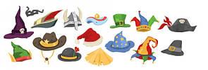 Шляпы, головные уборы, антенки