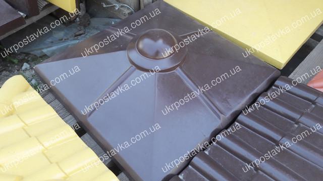 Крышка для забора LAND BRICK Скандинавия коричневая 450х450 мм
