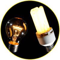 Лампочки накаливания и энергосберегательные