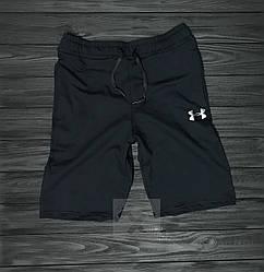 Мужские спортивные шорты Under Armour черного цвета (люкс копия)