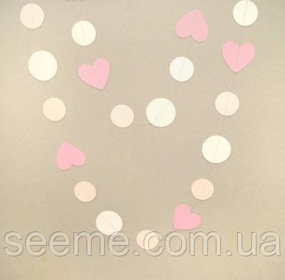 Гирлянда для декора праздника «Сердца», 1,5 метра
