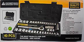 Набір головок з тріскачкою Zhongxin Tools 40 Шт, фото 2