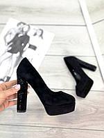 Туфли Joi , цвет - Черный, материал-иск.замша