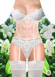 Фартук прикольный женский Белое белье
