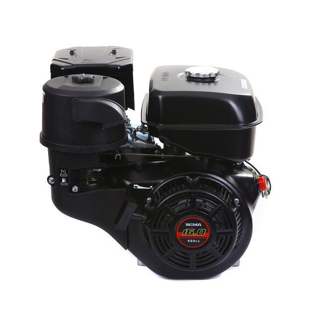 Двигатель бензиновый WEIMA WM190F-S2P NEW (16 л.с., шпонка, вал 25мм, бак 6.5л, шкив)