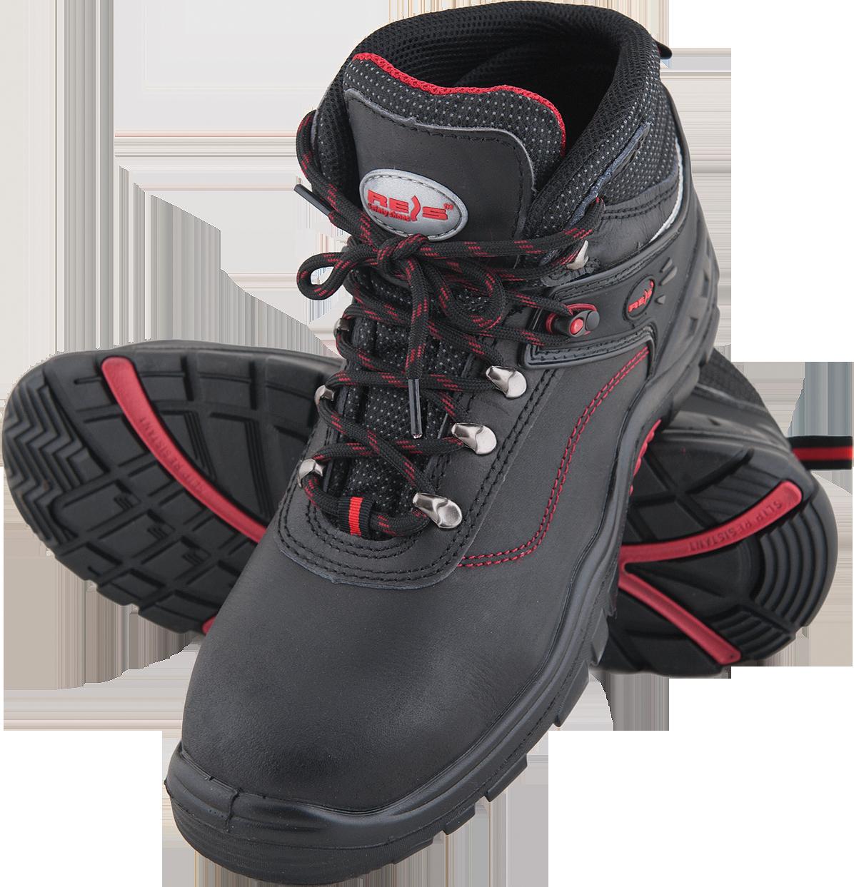 649979450 Ботинки BRBOSTON-T рабочие мужские с металлическим подноском кожаные REIS  Польша (спецобувь)