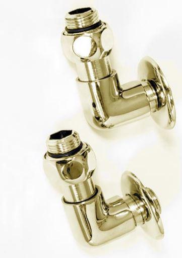 Соединение угловое для полотенцесушителя золото (комплект 2шт.)  2-07