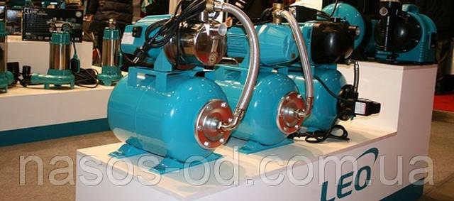 Купить насосную станцию гидрофор для водоснабжения дома из колодца или скважины Leo Акватика