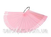 "Палитра ""веер"" розовая на кольце 12.5 см, 50 типс"