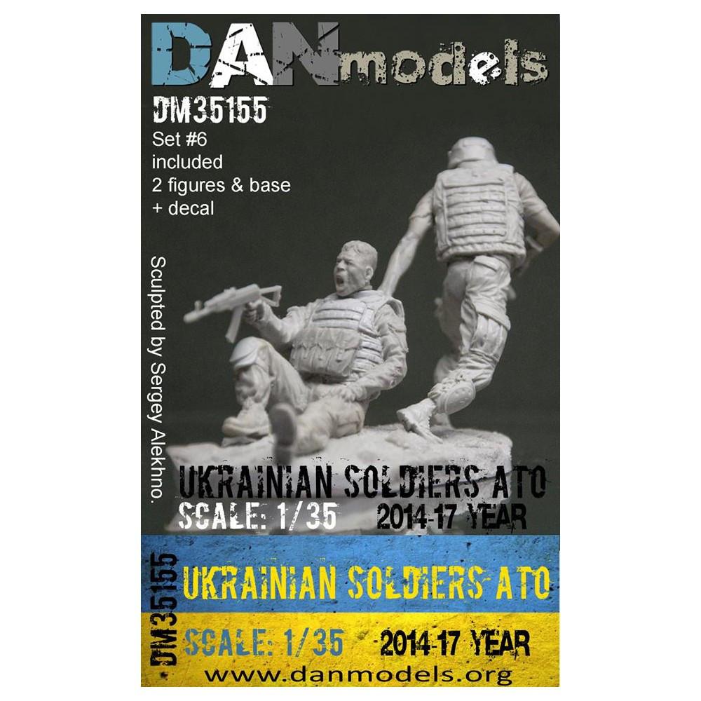 УКРАИНСКИЙ СОЛДАТ ATO 2014-2017 ГОД. НАБОР №6. 1/35 DANMODELS DM35155