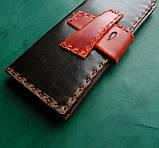 Тревел-кейс кожаный для смартфона карточек банка документов, фото 4