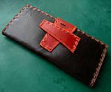 Тревел-кейс кожаный для смартфона карточек банка документов, фото 6